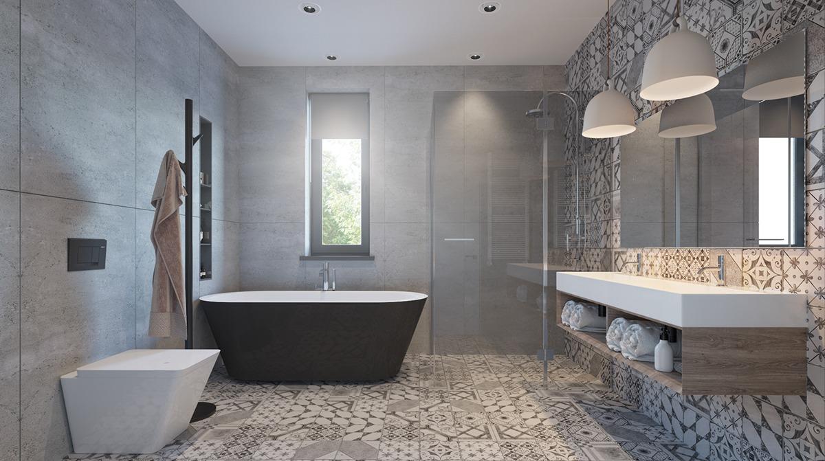 pastel color bathroom design