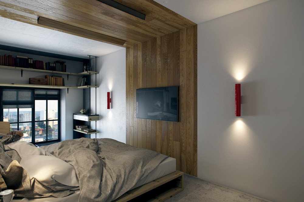 wooden bedroom decor