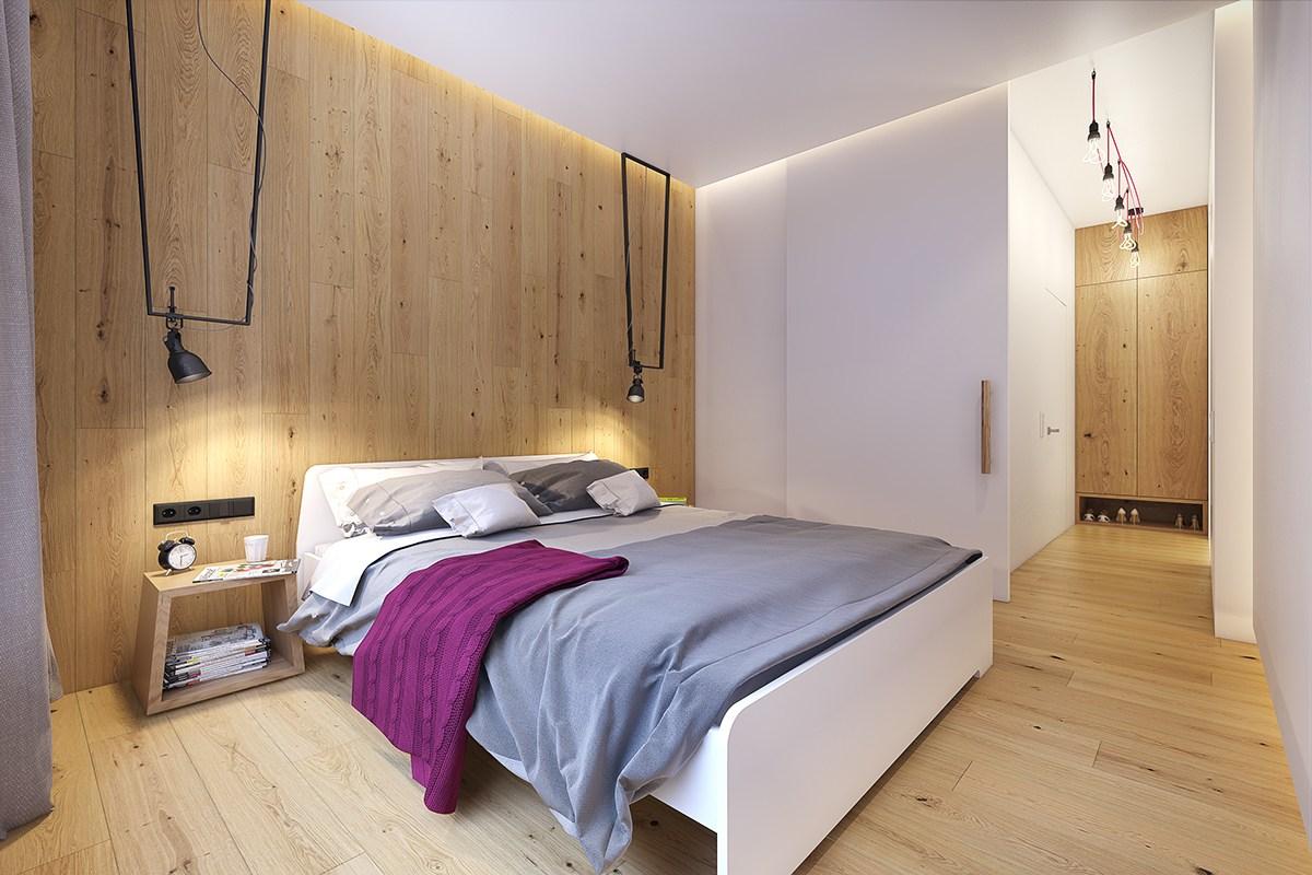 wooden backsplash design