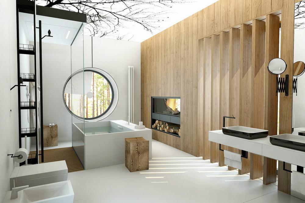 trendy bathroom deisgn