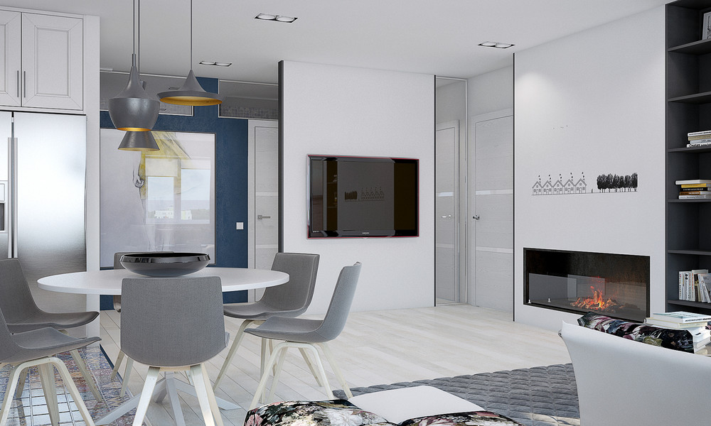 small white dining room