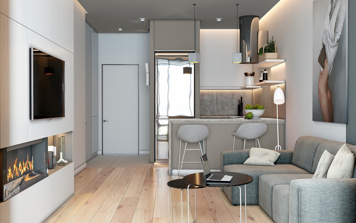minimalist apartment design combined with modern interior decor