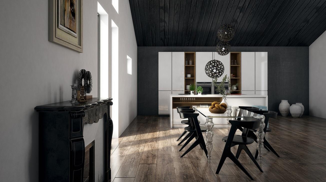 dark dining room design