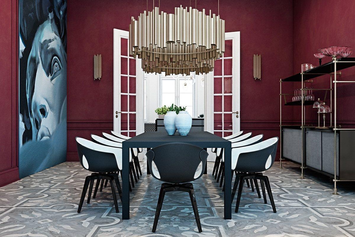 magenta dining room
