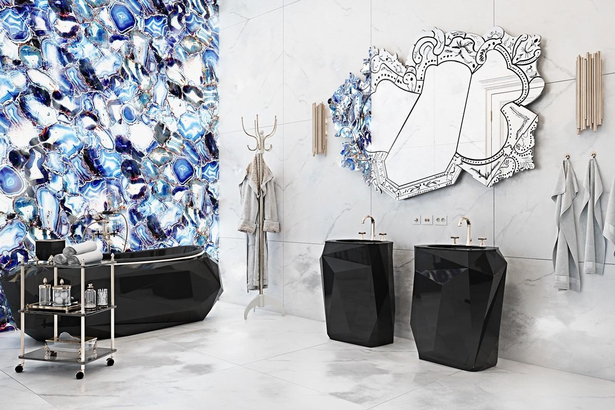 luxury blue backplash design