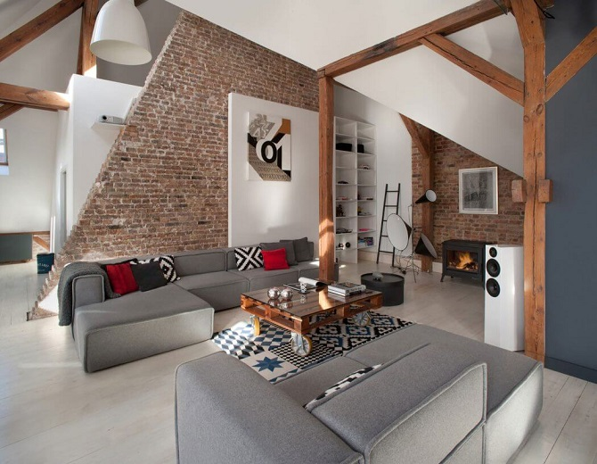 be inspired combining contemporary attic apartment design with modern interior features