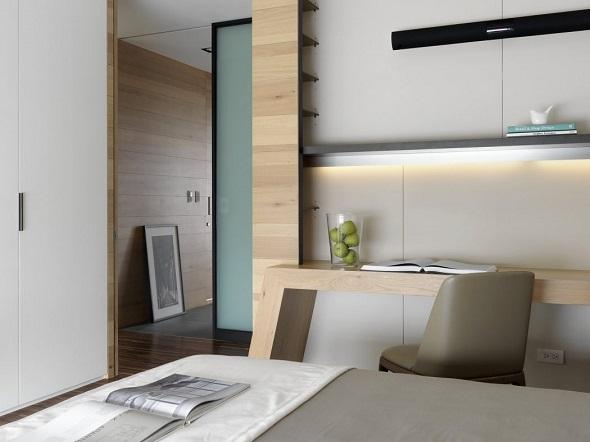 Contemporary bedroom decorating design