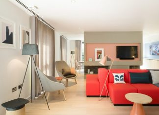 Studio apartment design inspiration with futuristic for Young couple living room ideas