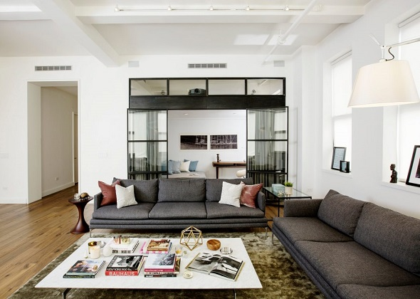 Contemporary spacious apartment design ideas