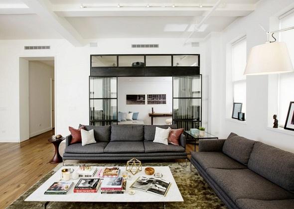 Contemporary spacious apartment design ideas