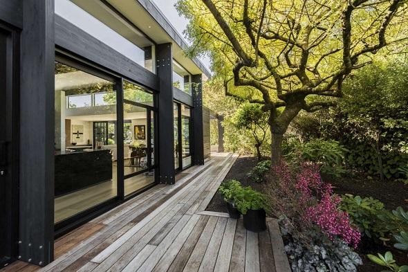 Minimalist single house decorating design