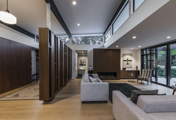Minimalist single house interior design