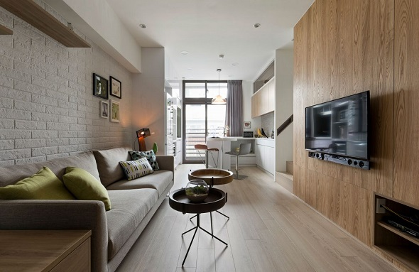 Creating Minimalist Small Living Room Design Decorated With Contemporary Wooden Interior And