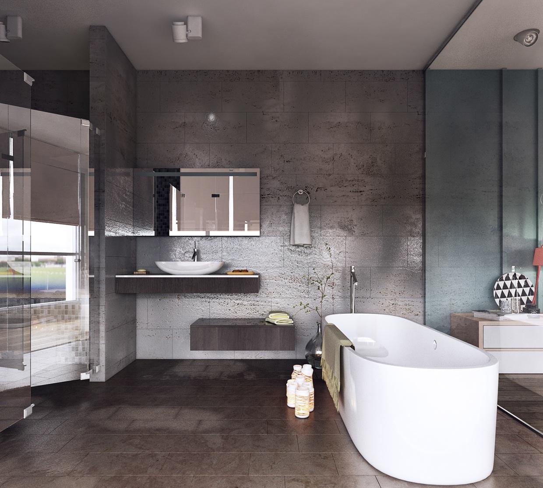 Smart Tips Renovating Spacious Bathroom Interior Designs