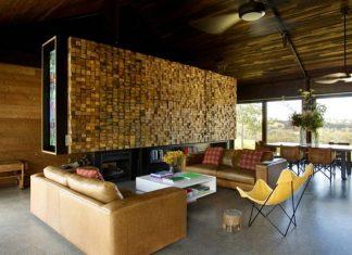 Modern wooden single house design