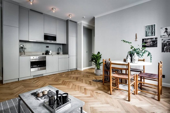 Scandinavian small apartment decorating design