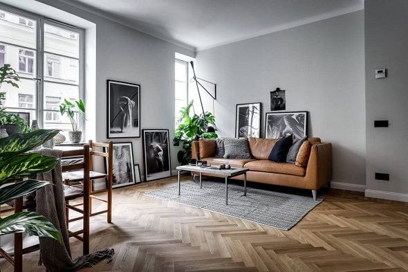 Scandinavian small apartment design