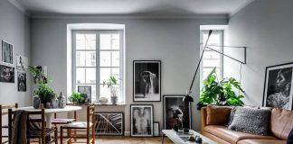 Scandinavian small apartment interior