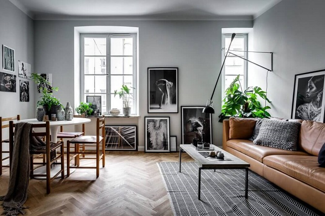 Scandinavian small apartment interior