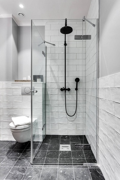 Scandinavian small bathroom design