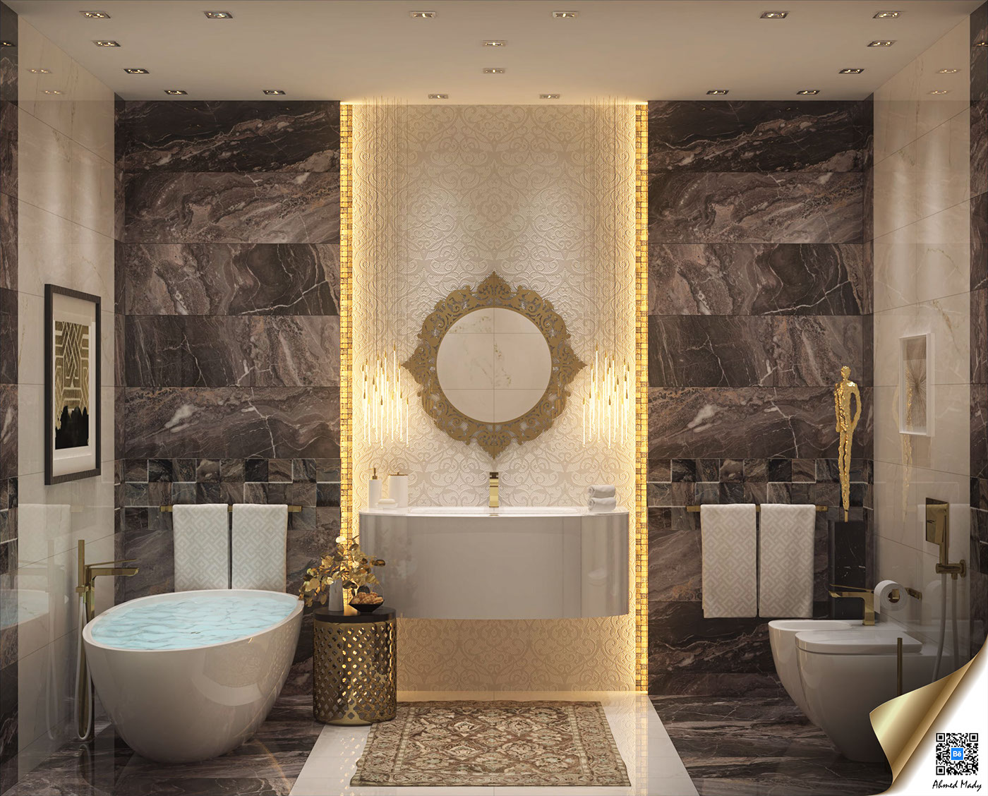 Luxury Bathroom Decor Which Combine With Trendy And Modern