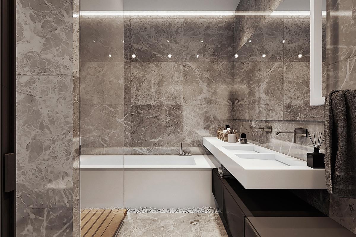 modern bathroom backsplash decor