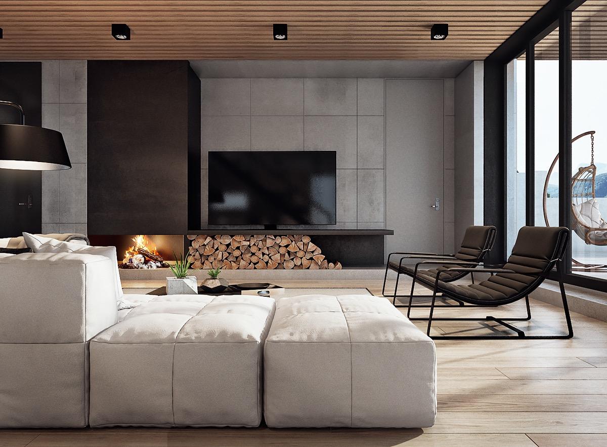 trendy living room decor