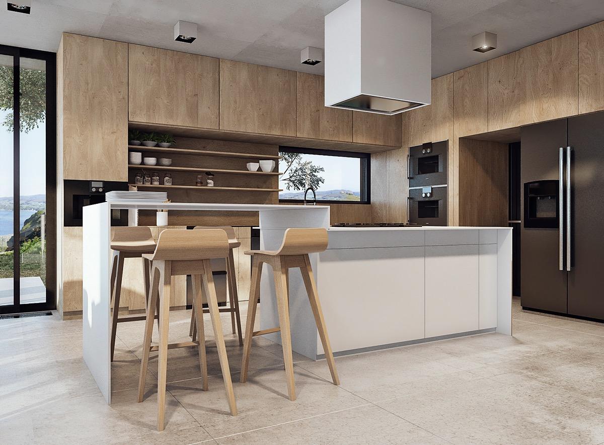 modern wooden kitchen designmodern wooden kitchen design