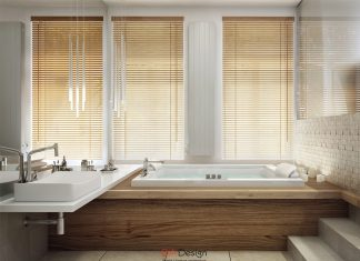 modern wooden bathroom design