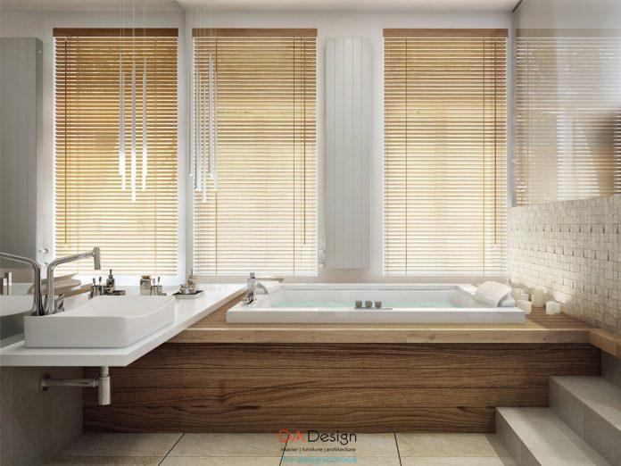 modern wooden bathroom design
