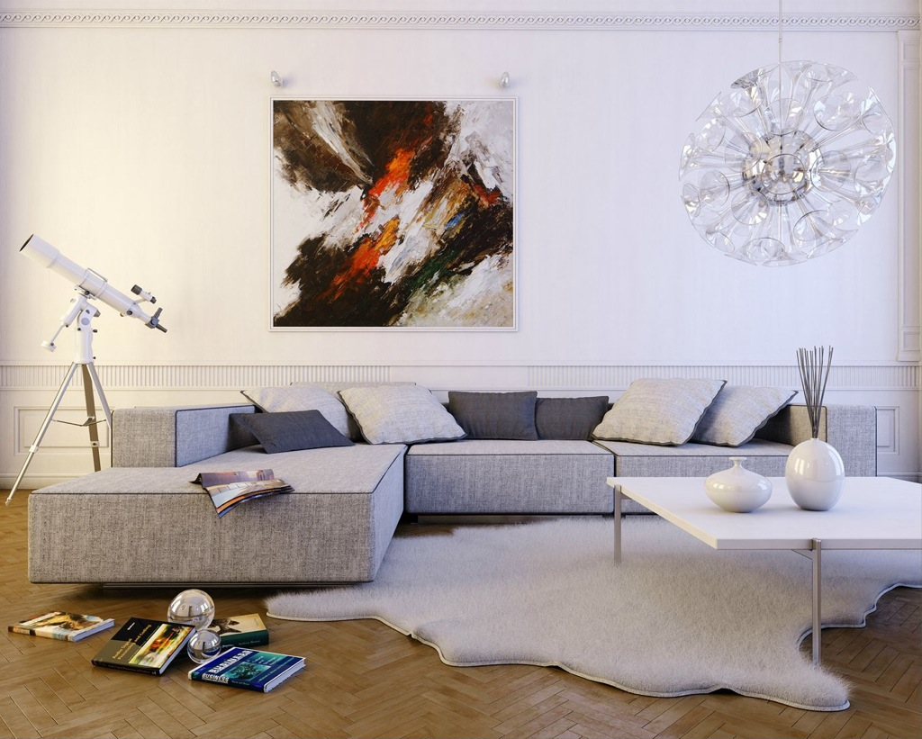 DMR Designs White Modern Living Room