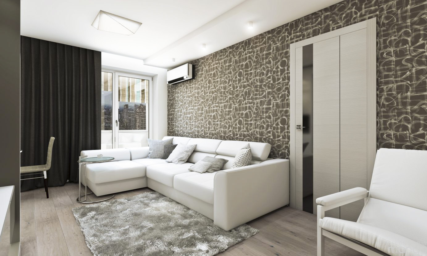 white small living room