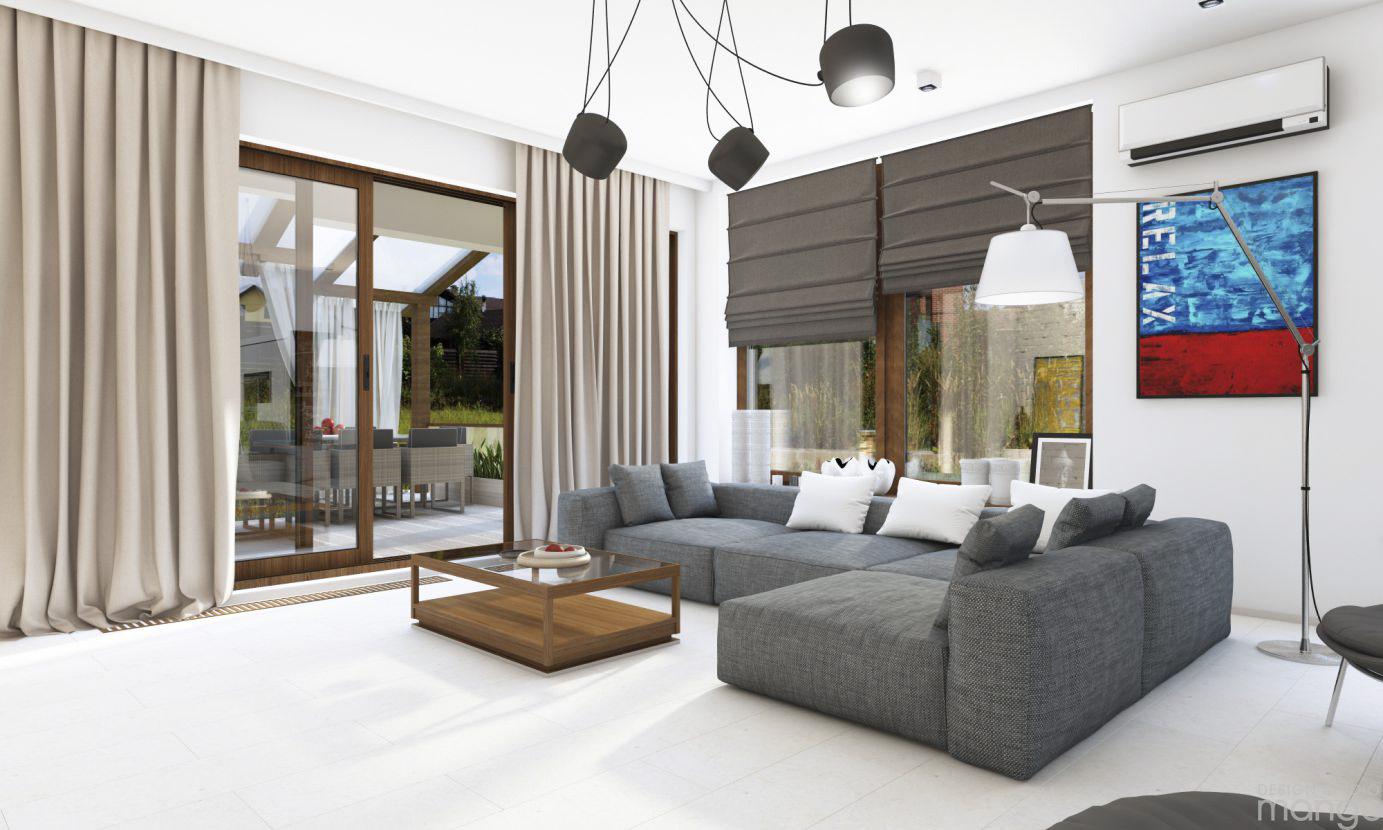 luxury gray living room