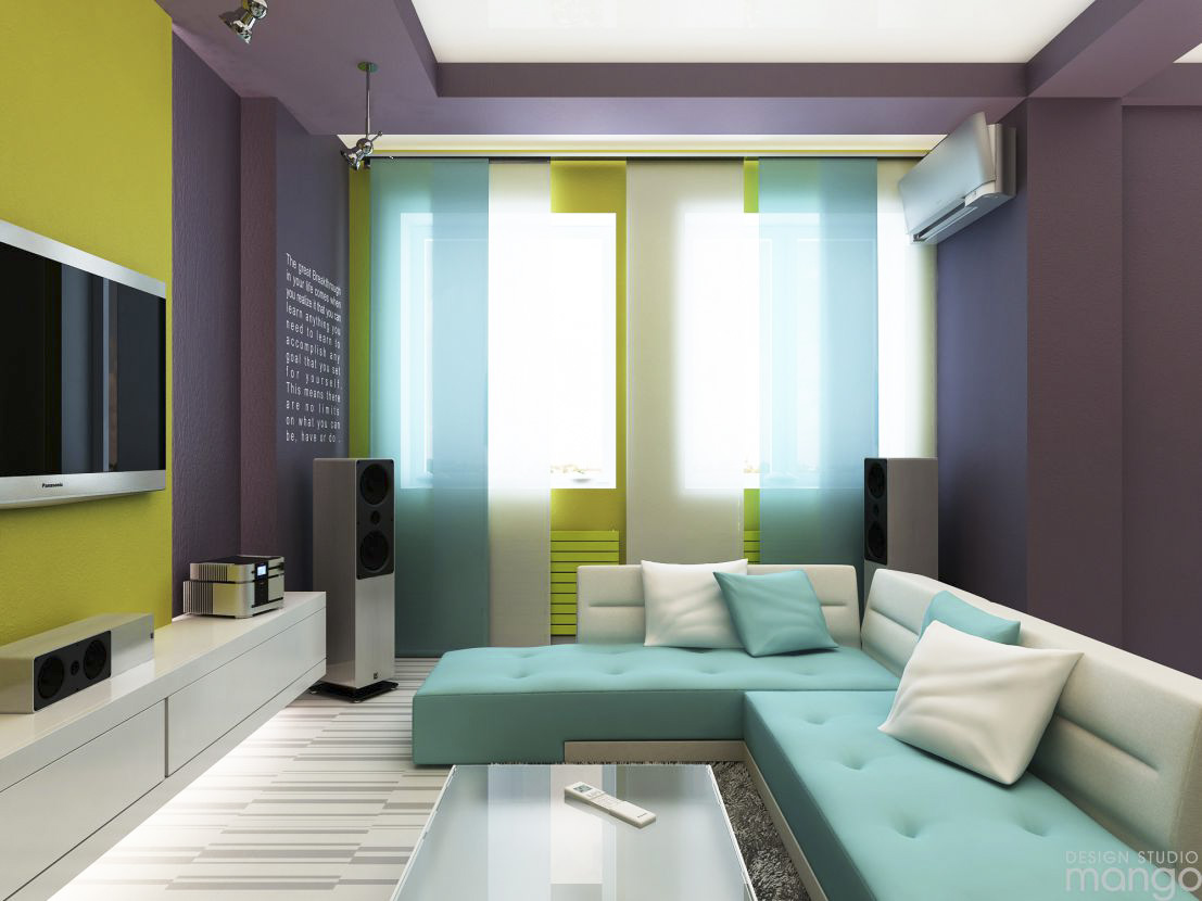colorful small living room design