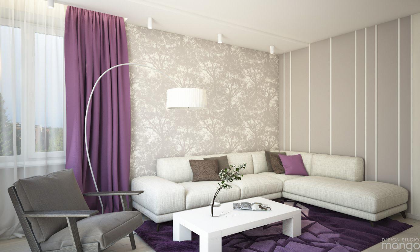 trendy wall living room design