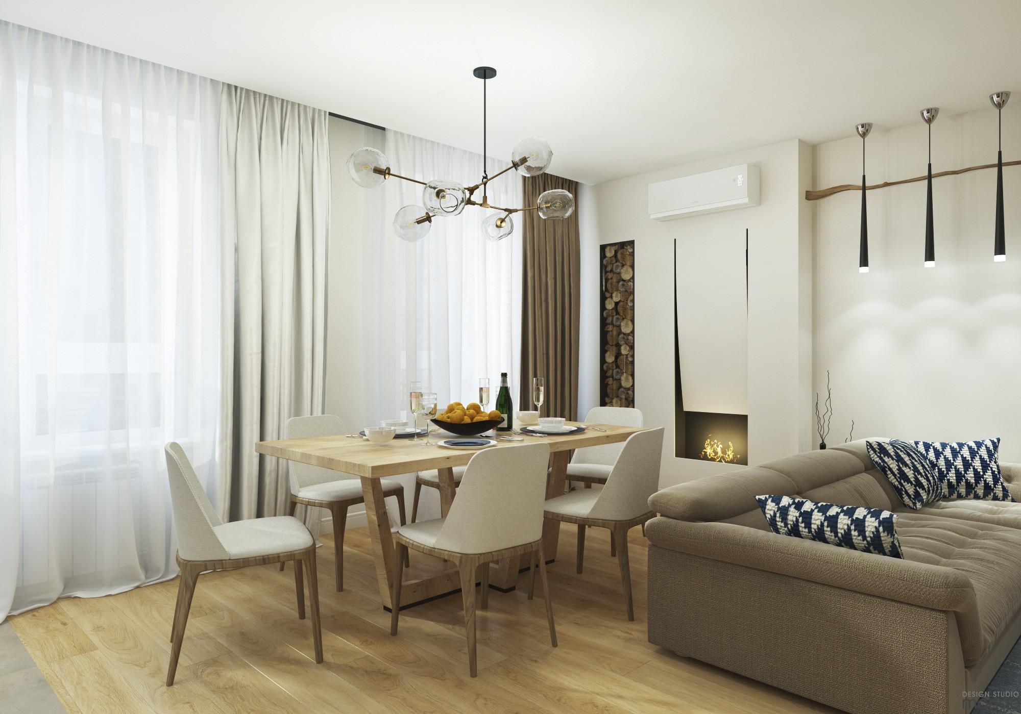 soft color dining rom design