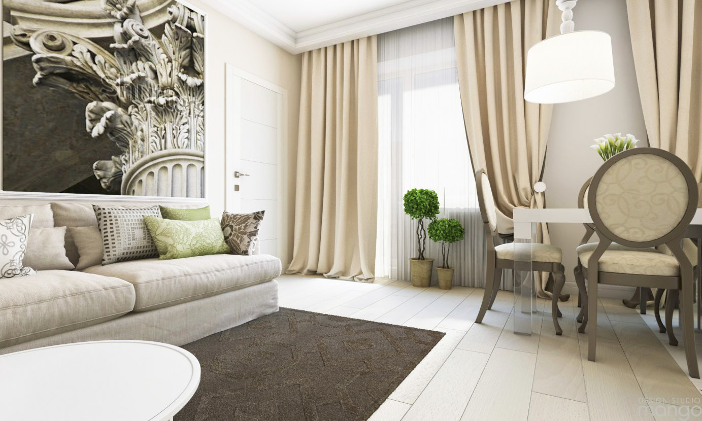 Luxury Small Apartment Design Using Soft Color and Awesome Decor ...