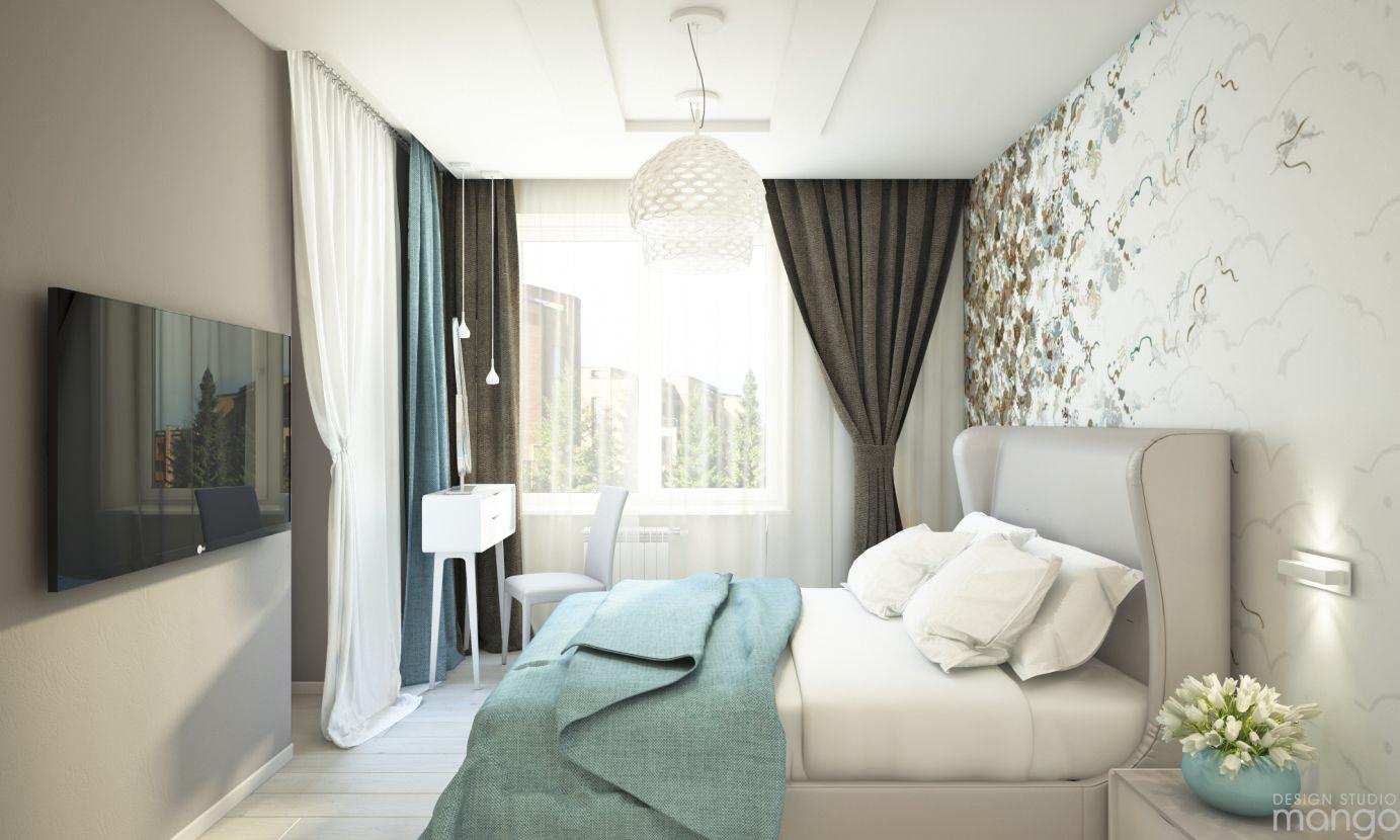 luxury blue interior bedroom