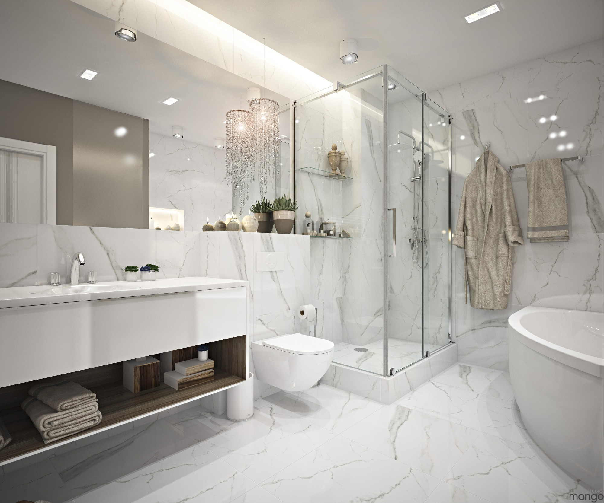 Tamizo Architects Modern Bathroom Design © Design Studio Mango