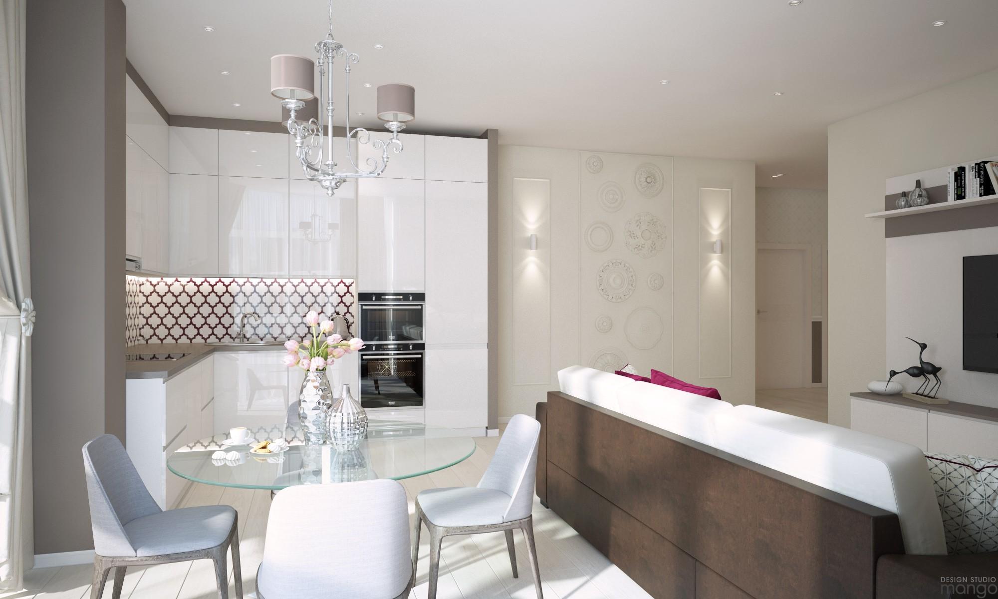 white dining room design