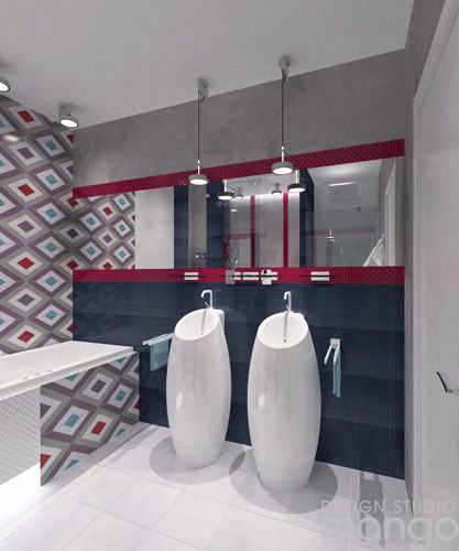 colorful bathroom decor