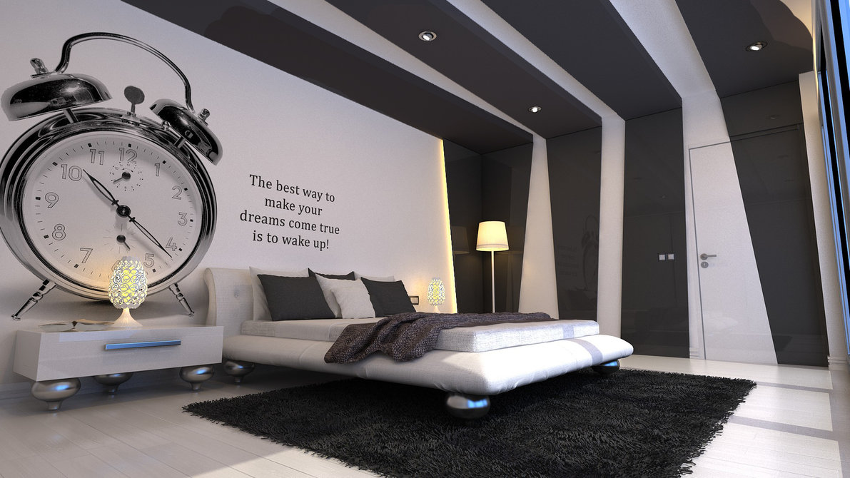 modern gray bedroom design