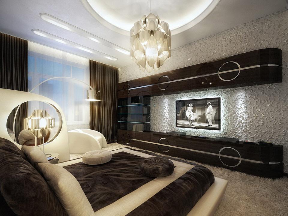 monochrome bedroom design