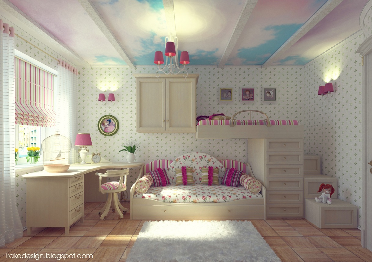 cute girls room design. Attractive Girls Room Decor Which Applying Pink Color Accent