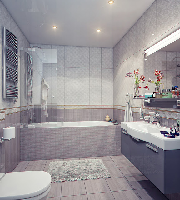 luxury gray bathroom design