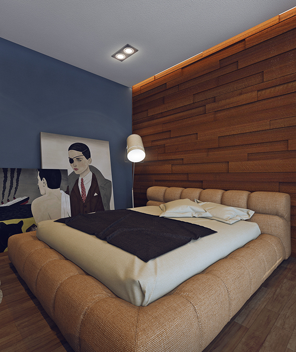 minimalist wooden bedroom