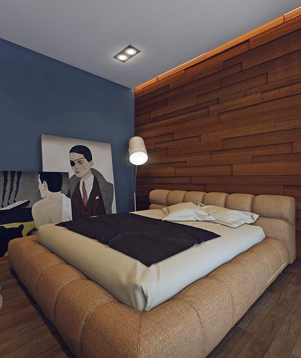 minimalist wooden bedroom