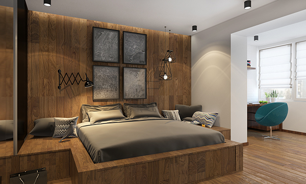 denis bespalov modern bedroom decor