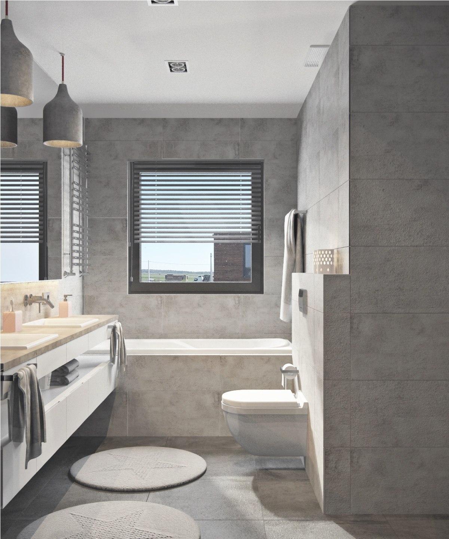 simple small gray bathroom decor