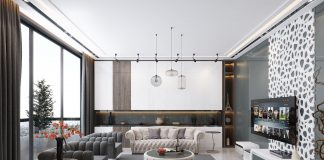 gray and white luxury living room